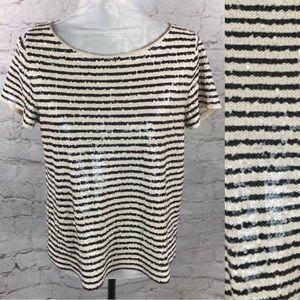 J Crew sequin t-shirt